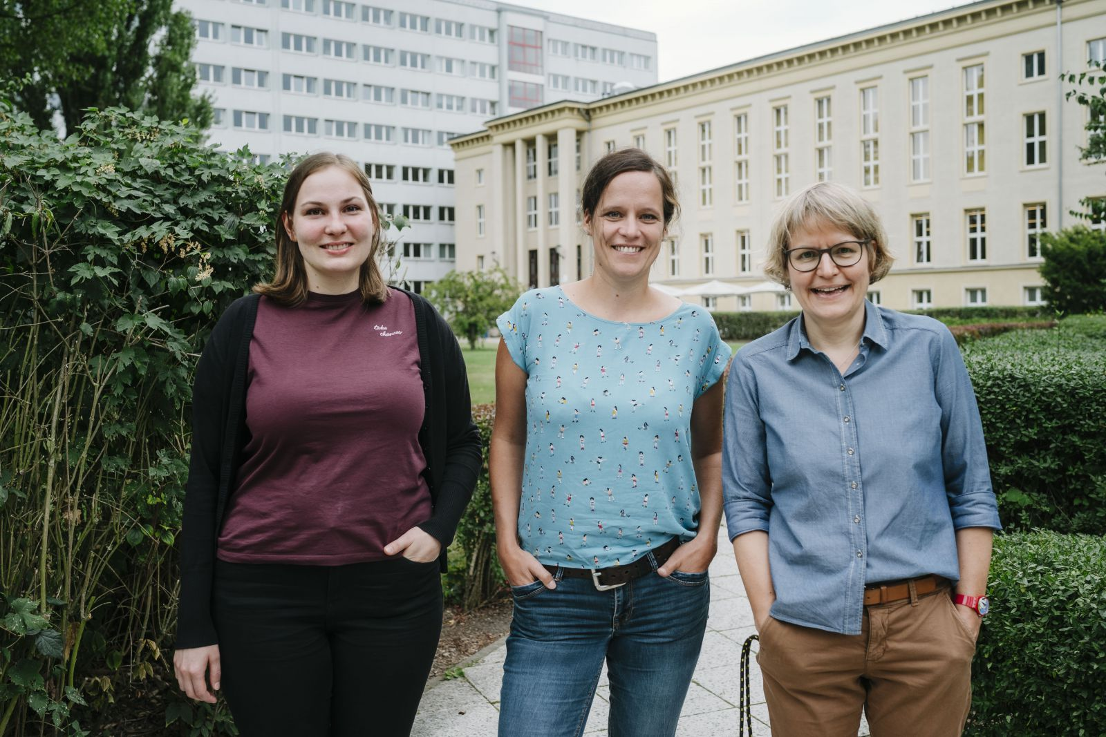Anne-Kathrin Böttcher, Yvonne Küssner und Michaela Frana vom Career Service