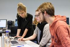 Studierende der internationalen Medieninformatik