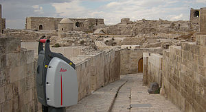 Surveying the architecture of the citadel of Aleppo using a laser scanner