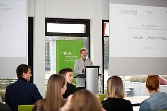 Deutschlandstipendium-Abschlusstreffen 2019 am Campus Wilhelminenhof