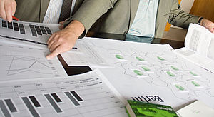 Statistic charts on a table