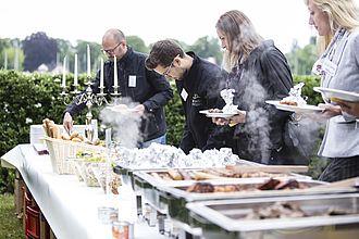 Das Buffet im Freien beim Netzwerktreffen bei BERBUS l A in Grünau 2016