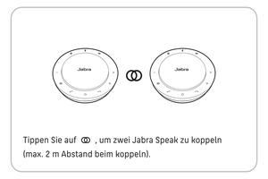 Abbildung zur Kopplung zweier Jabra Speaker