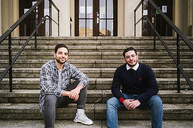 Mohamad Halwani und Essa Alahmar, Foto: Alexander Rentsch