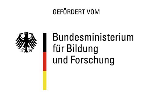 """Schriftzug """"Gefördert vom Bundesministerium für Bildung und Forschung"""""""