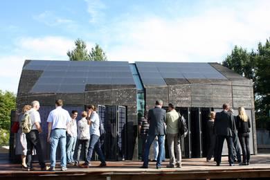 Das prämierte Plusenergiesolarhaus für den Solar Decathlon Europe 2010 © HTW Berlin/Adina Herde