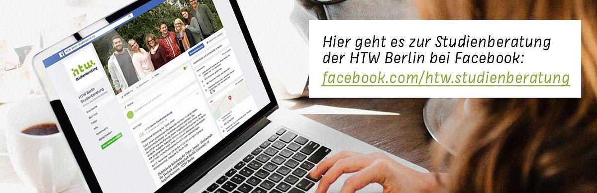 Link zur Facebookseite der Studienberatung der HTW Berlin