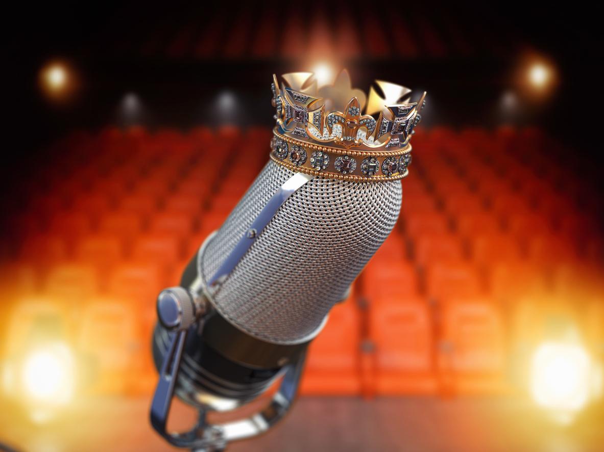 Mikrofon mit Krone