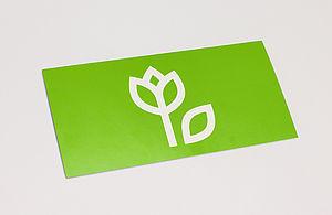 Grüne Grußkarte mit Blume