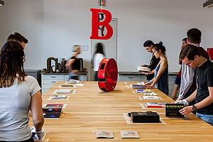 Präsentation bei der Werkschau an der HTW Berlin © Laura Sophie Jung