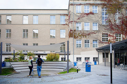 Innenhof und Atrium auf dem Campus Treskowallee