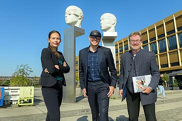 Jenny Orantek,  Roland Sillmann und Prof. Dr. Carsten Busch © WISTA Management GmbH