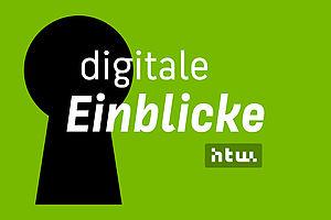 Wort-Bild-Marke der digitalen Einblicke an der HTW Berlin