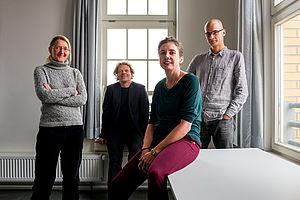 Das Professor_innenteam im Fraustudiengang Informatik und Wirtschaft © HTW Berlin / Dennis Meier-Schindler