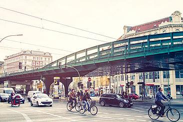 Straßenszene in Berlin-Prenzlauer Berg