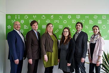Gruppenfoto mit Michael Fratz (TK), Claas Cordes, Heike Hoffmann, Mylène Gabel, Guido Grunenberg (TK), Franziska Preuß (TK)