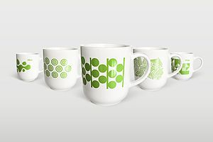 Tassen mit HTW-Logo