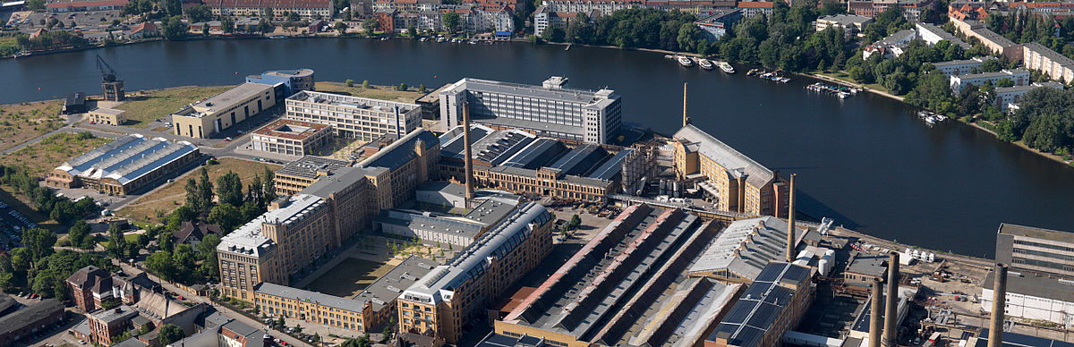 Wilhelminenhof campus from the air perspective
