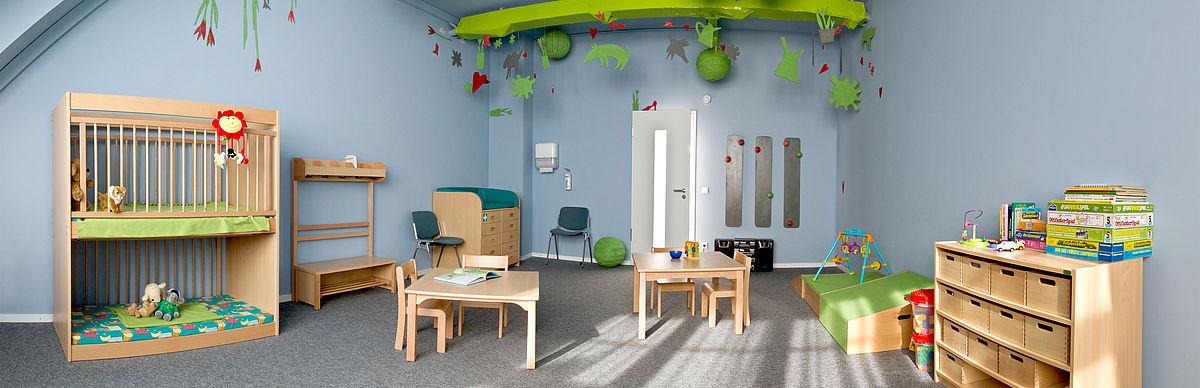 Familienzimmer auf dem Campus Wilhelminenhof