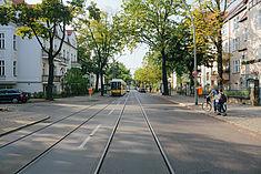 Straße in Karlshorst © HTW Berlin/Alexander Rentsch