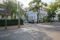 Straßenzug in Karlshorst © HTW Berlin/Alexander Rentsch