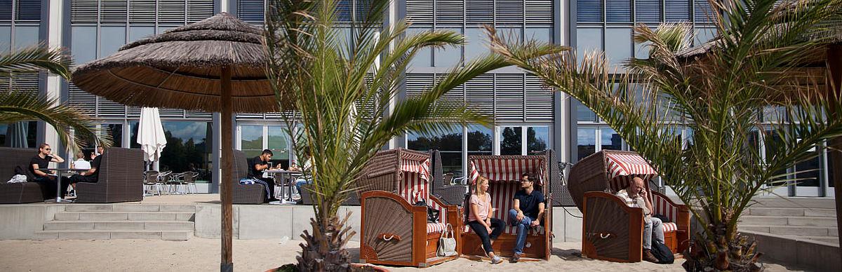 Strandbar auf dem Campus Wilhelminenhof