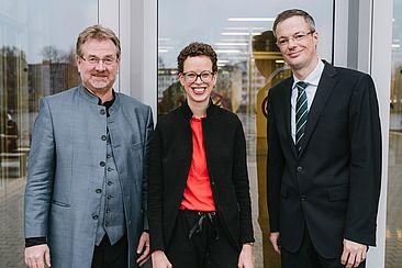 Die neu gewählte Hochschulleitung der HTW Berlin © HTW Berlin/Alexander Rentsch