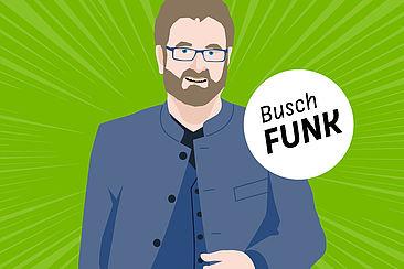 """Wort-Bild-Marke """"Buschfunk"""""""