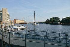 Blick auf die Jungfernbrücke in Oberschöneweide © HTW Berlin/Alexander Rentsch