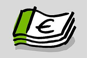Illustration mit einem Geldschein