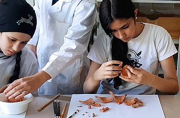Kinder im Workshop an der HTW Berlin © HTW Berlin Elise Malchow