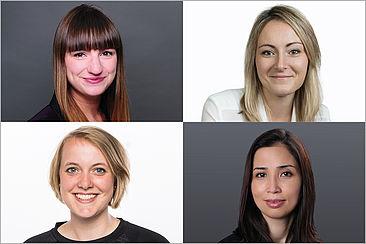 Porträts der vier Doktorandinnen