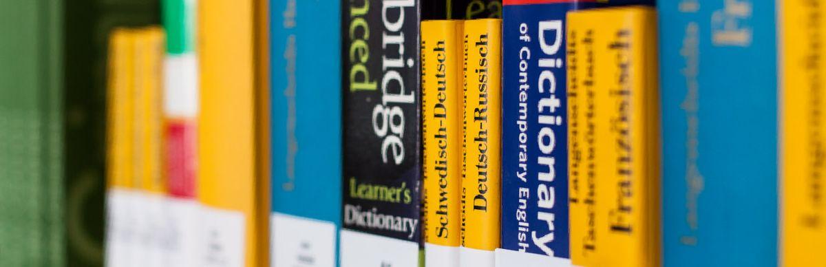 Verschiedene Wörterbücher