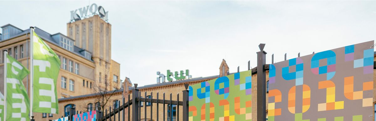 Plakate auf dem Campus Wilhelminenhof © HTW Berlin/Alexander Rentsch