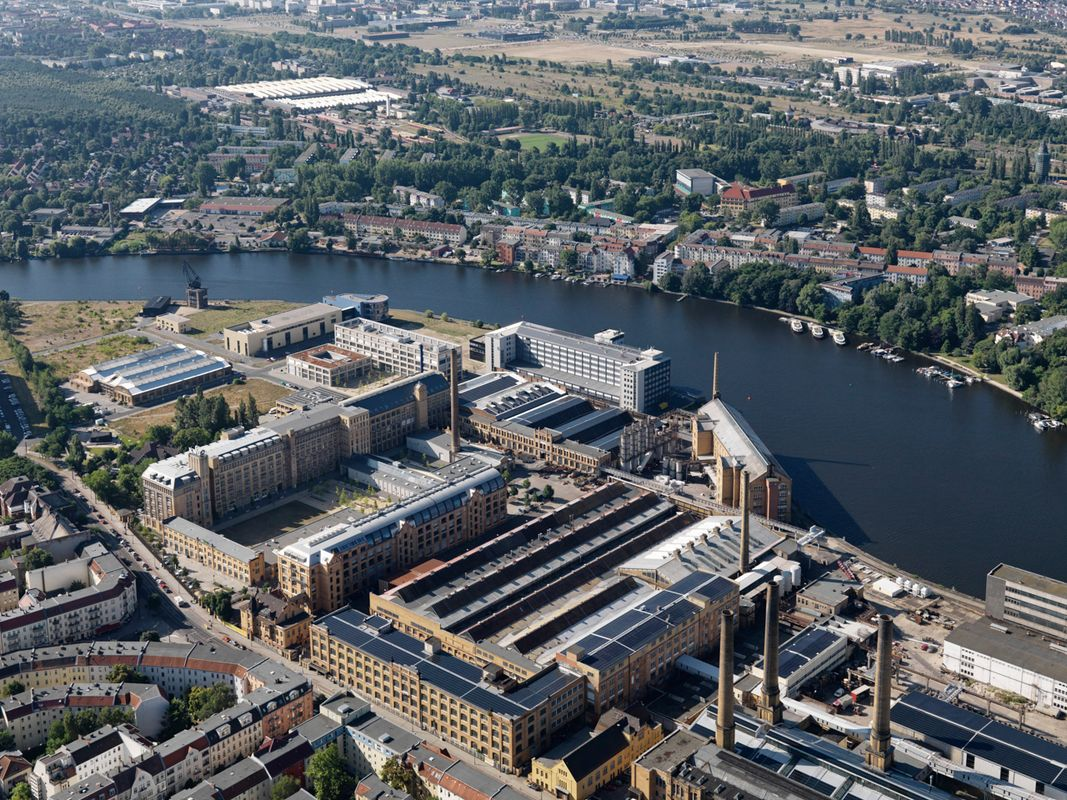 Luftbild vom Campus Wilhelminenhof