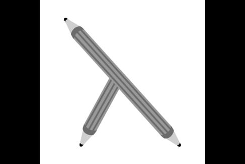 Illustration mit einem Bleistift mit drei Enden