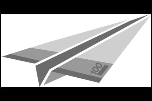 Illustration mit einem Geldschein, der zu einem Papierflieger gefaltet wurde