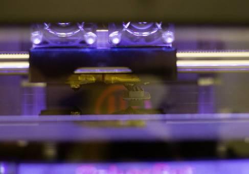Ein 3D-Drucker in Aktion