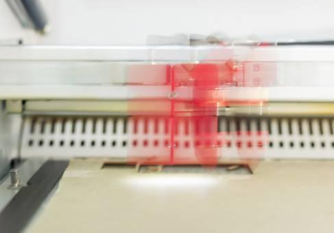Der Lasercutter in Aktion