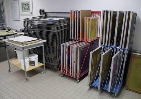 Das Siebdrucklabor