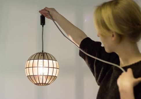 Eine im Lasercutter-Tutorium entstandene Lampe