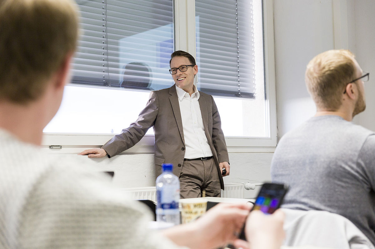 Sascha Dawo im Unterricht