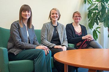Claudia Heller, Laura Tihon und Tina Siebert (von links)