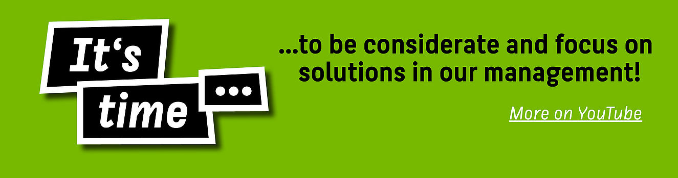 It's time to be considerate and focus on solutions in our management! More on YouTube