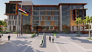 Eine Visualisierung des GIU-Gebäudes