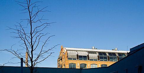 Gebäude A auf dem Campus Wilhelminenhof im Winter