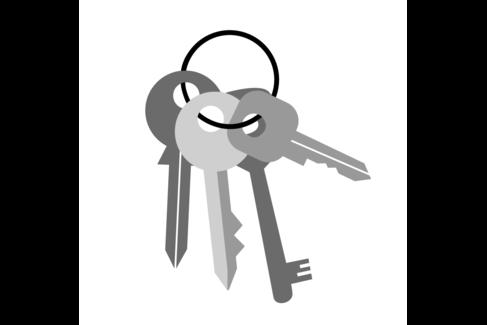 Illustration mit mehreren Schlüsseln an einem Bund