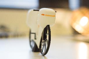Modell eines Fahrrads: Ergebnis aus dem 3D-Druck-Tutorium