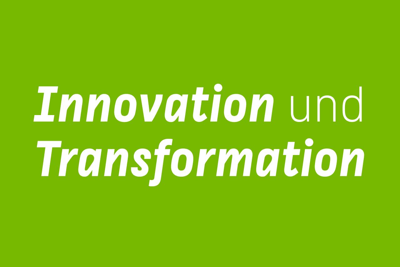 Innovation und Transformation - Titelbild des Hochschulentwicklungsplans der HTW Berlin