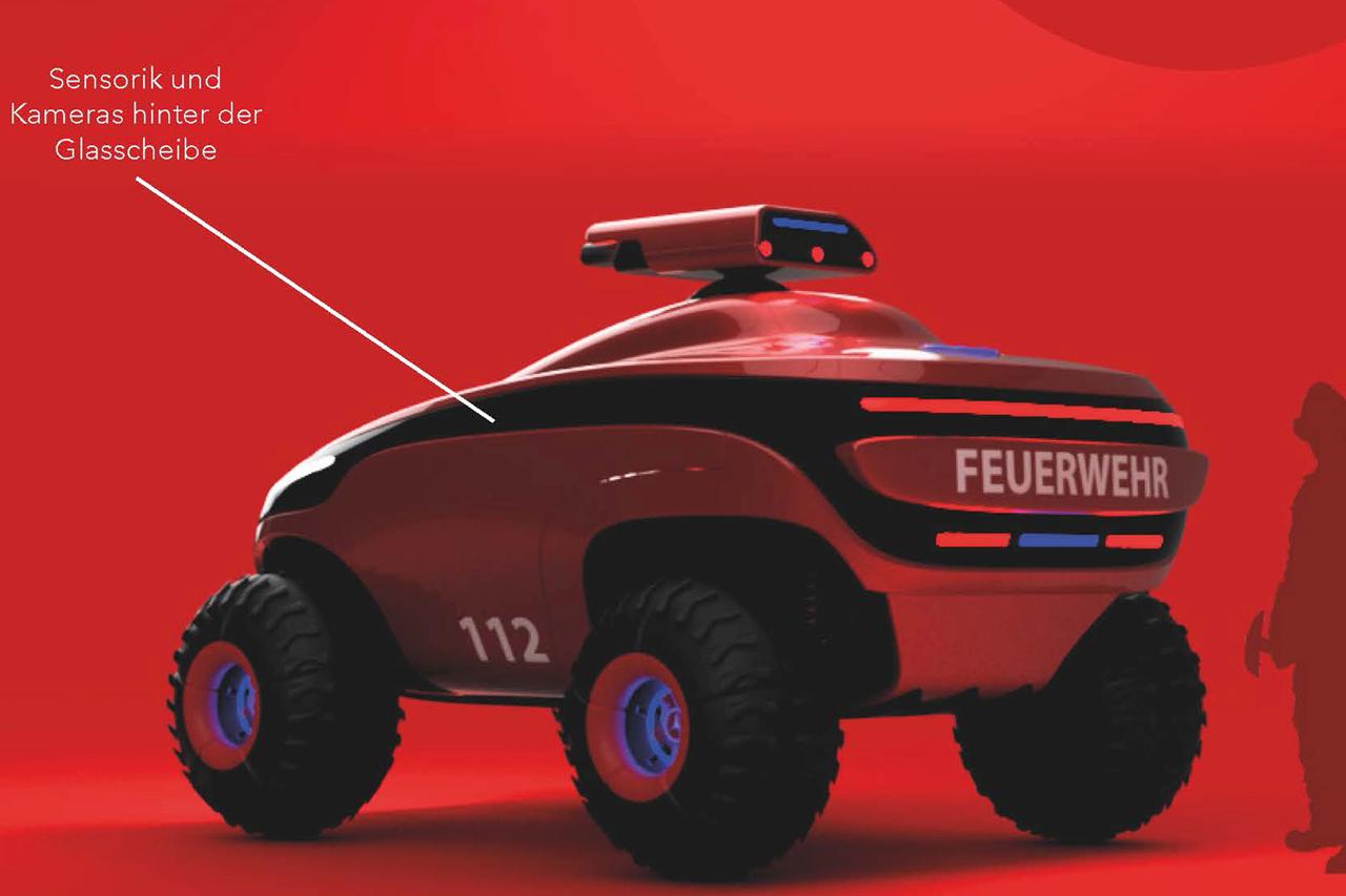 Das ferngesteuerte Feuerwehrfahrzeug © aed